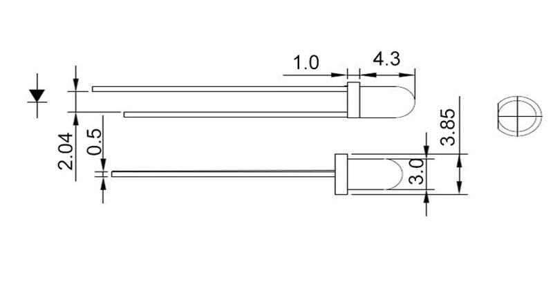 10x 3mm LED superhell 20mA Rund Ultrahell 30° Blau